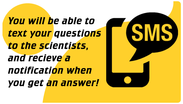send an sms text to the scientists